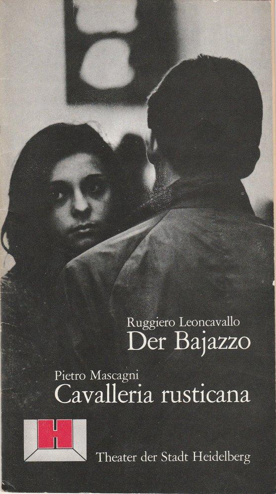 Programmheft Der Bajazzo / Cavalleria rusticana Theater Heidelberg 1980