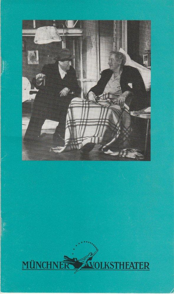 Programmheft Neil Simon: SONNY-BOYS Münchner Volkstheater 1989