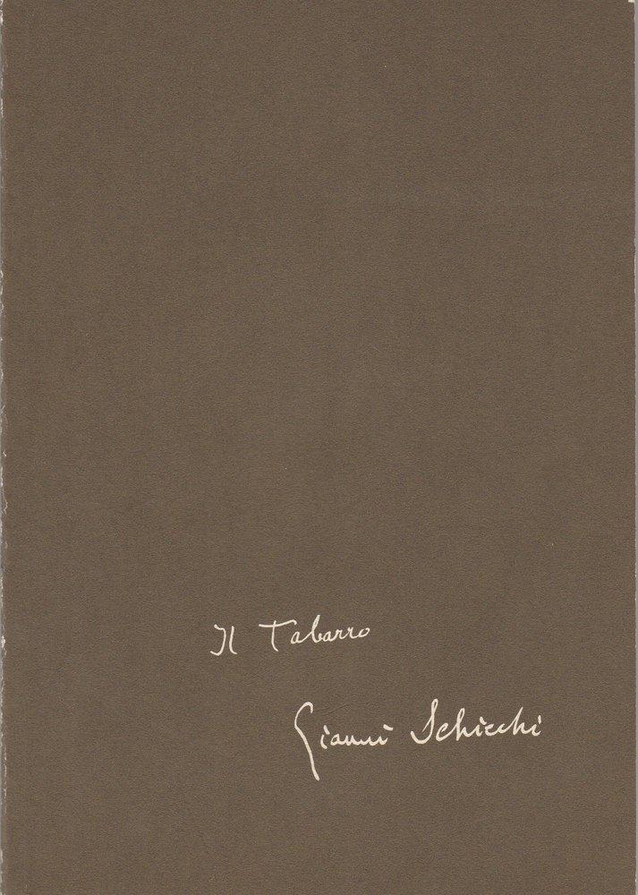 Programmheft Puccini: Il Tabarro / Gianni Schicchi Bayerische Staatsoper 1982