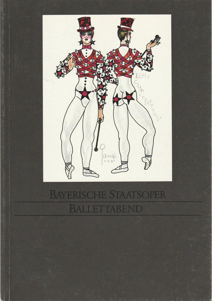 Programmheft Ballettabend Les Sylphides / The Prodigal Son / Elite Syncopations