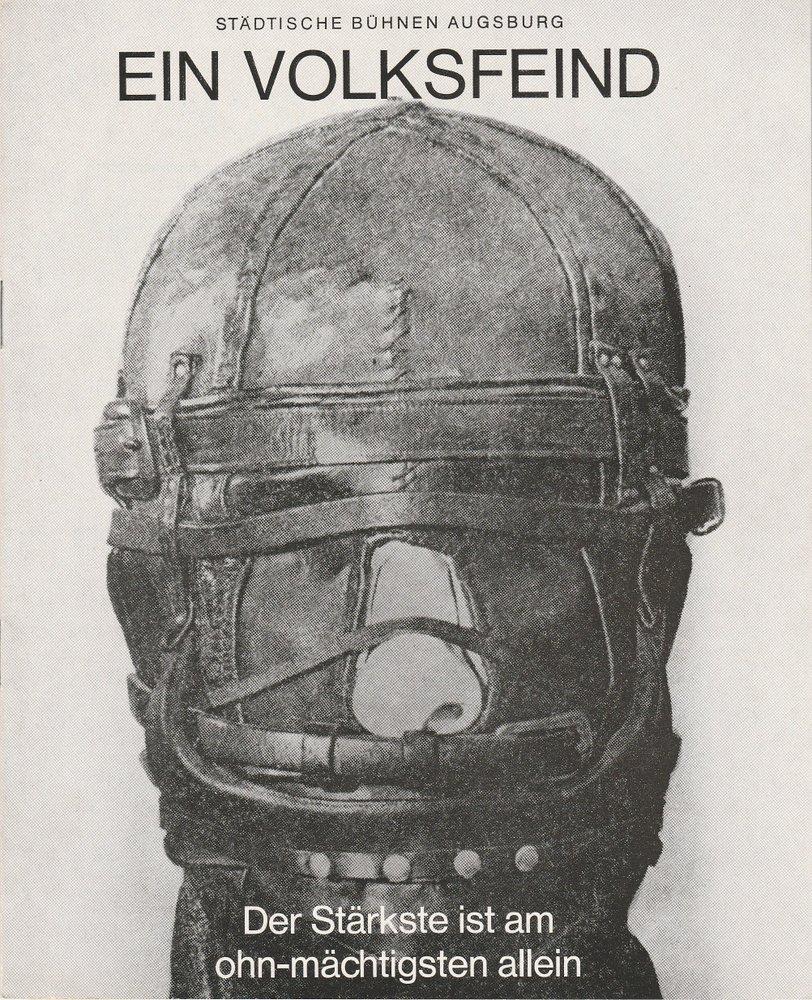 Programmheft EIN VOLKSFEIND. Schauspiel von Henrik Ibsen Augsburg 1970