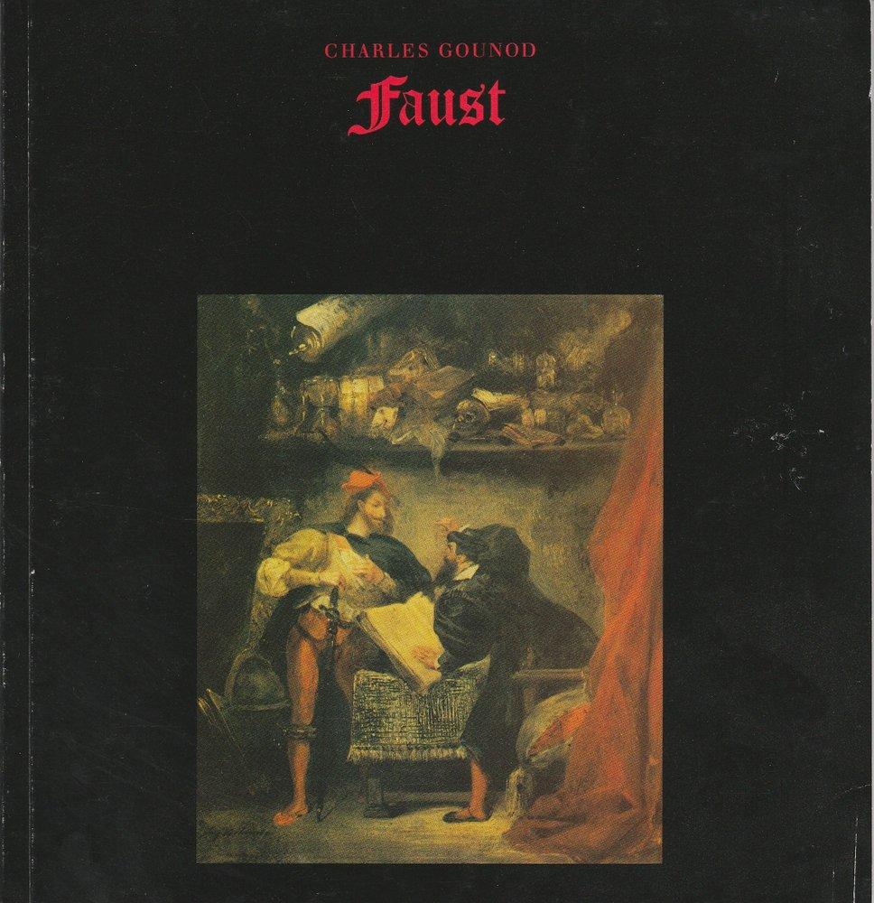 Programmheft zur Premiere FAUST Oper von Charles Gounod Hamburg 1985