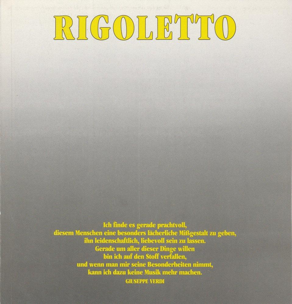 Programmheft RIGOLETTO Oper von Giuseppe Verdi Hamburg 1986