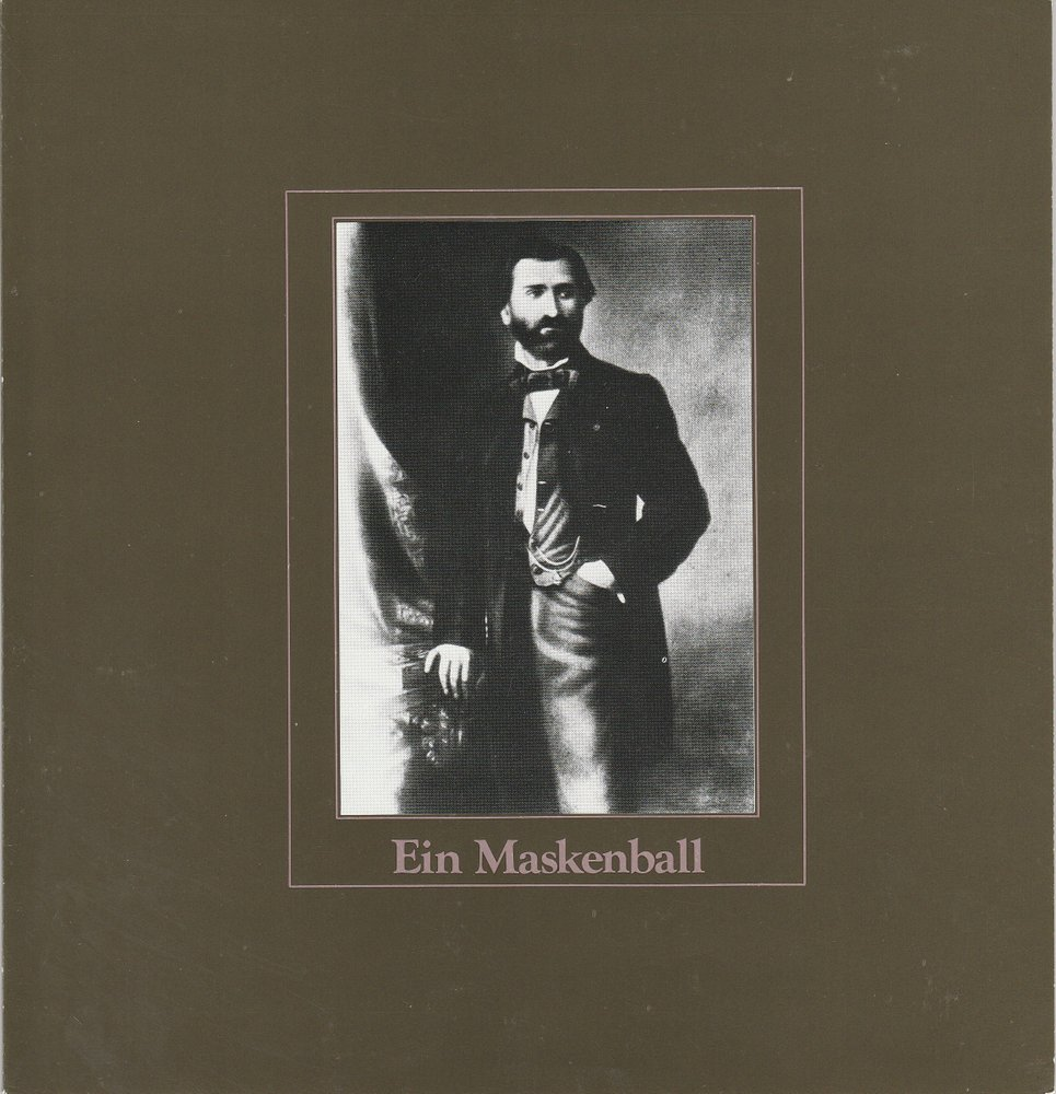 Programmheft Ein Maskenball Oper von Giuseppe Verdi Hamburg 1980