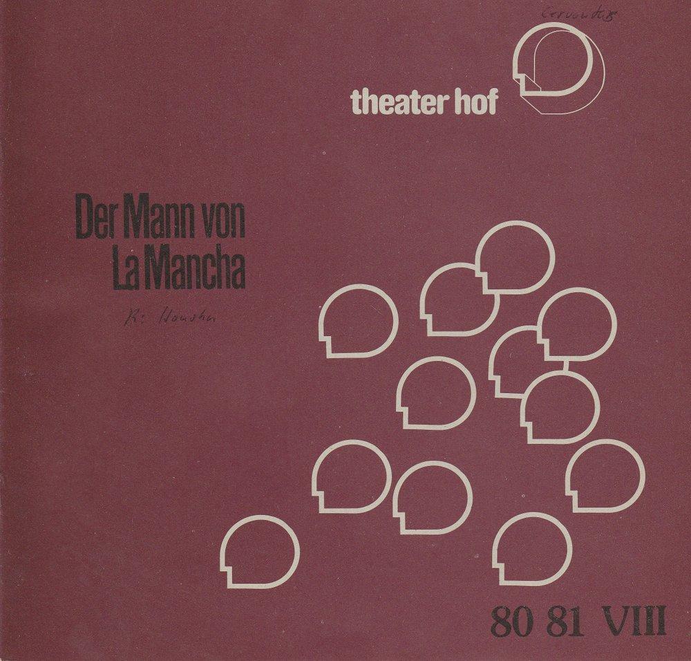 Programmheft Der Mann von La Mancha. Musical Hof 1981