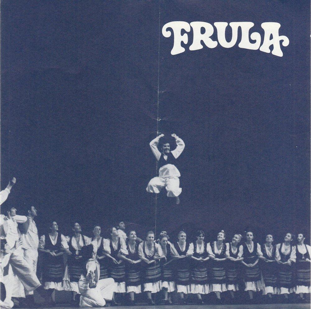 Programmheft Jugoslawisches Nationalballett FRULA KUD EHO ca. 1985