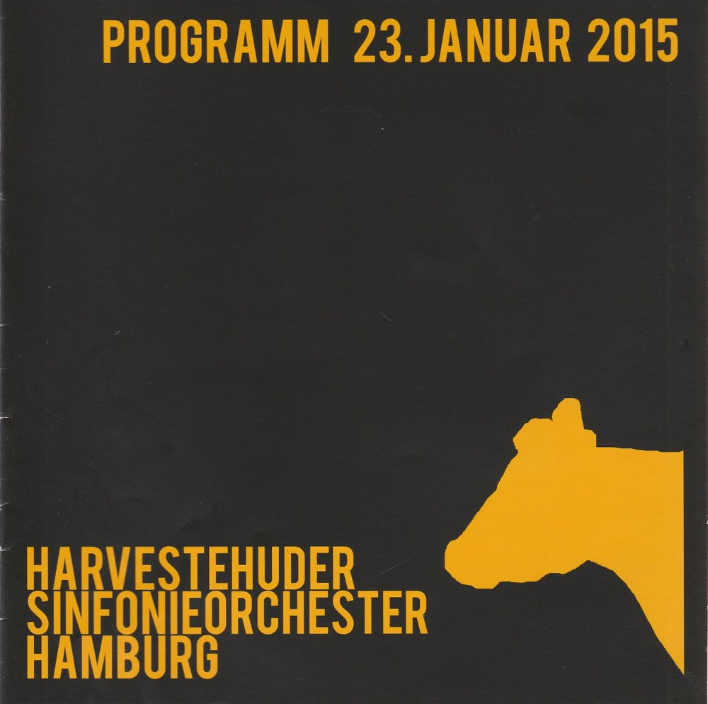 Programmheft Mahler Sinfonie Nr. 2 c-Moll Harvesterhuder Sinfonieorchester 2015