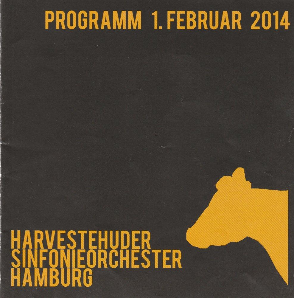 Programmheft Bernstein Beethoven Brahms Harvesterhuder Sinfonieorchester 2014
