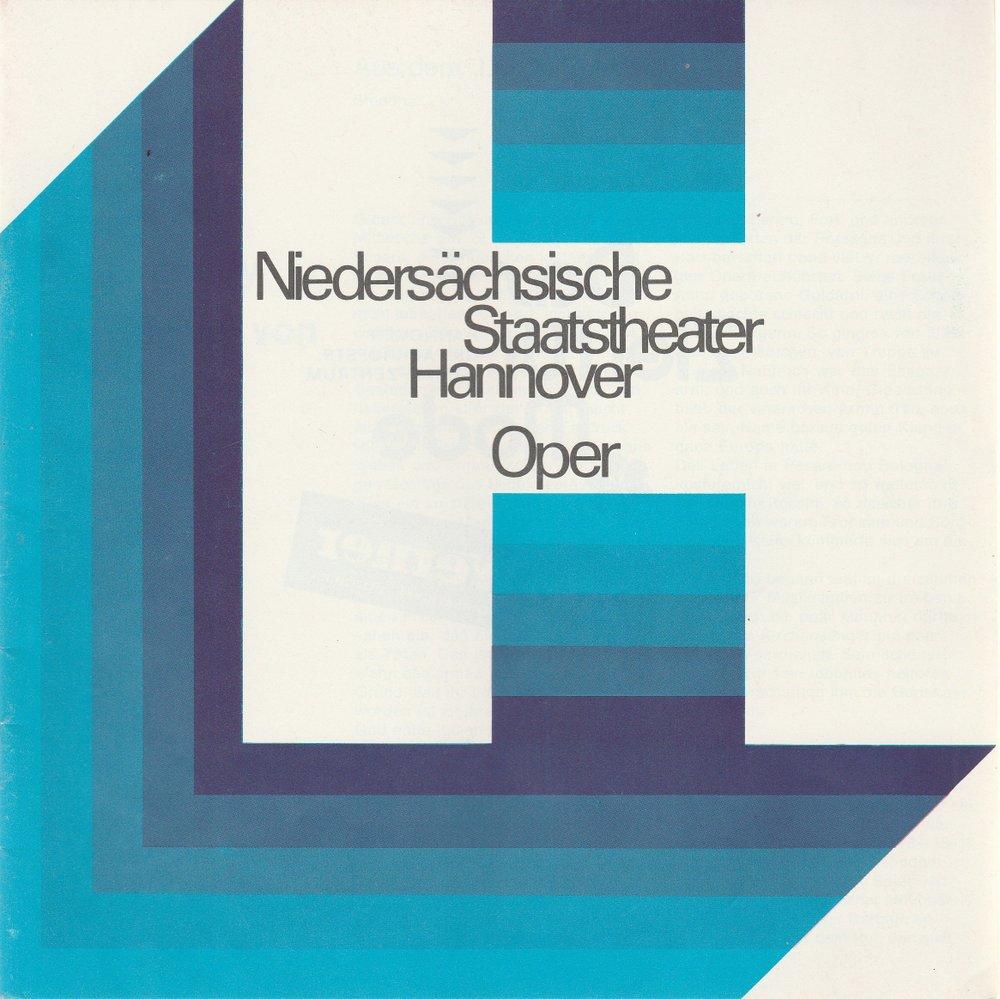 Programmheft Rossini: Der Barbier von Sevilla Oper Hannover 1970
