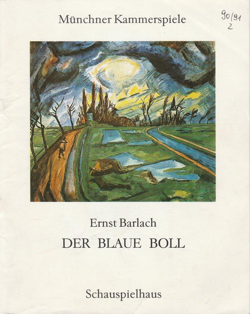 Programmheft Ernst Barlach: Der blaue Boll Münchner Kammerspiele 1991
