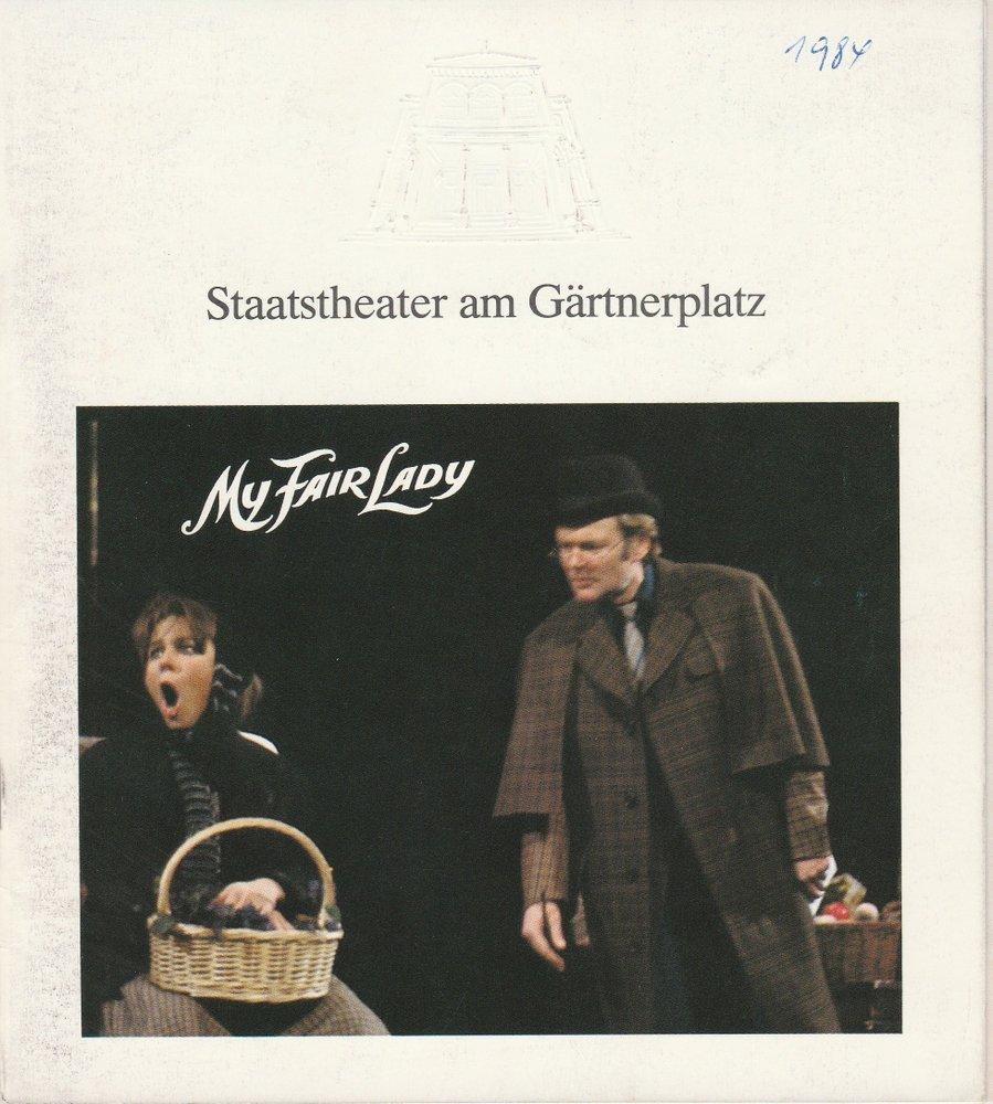Programmheft My Fair Lady Staatstheater am Gärtnerplatz 1984
