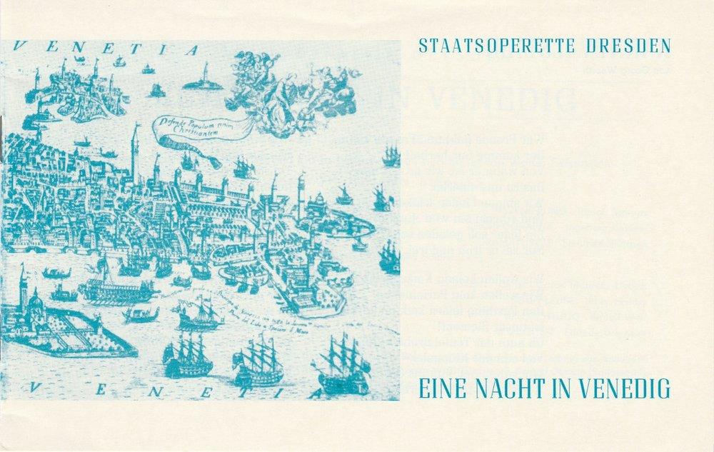 Programmheft Strauss Eine Nacht in Venedig Staatsoperette Dresden 1984