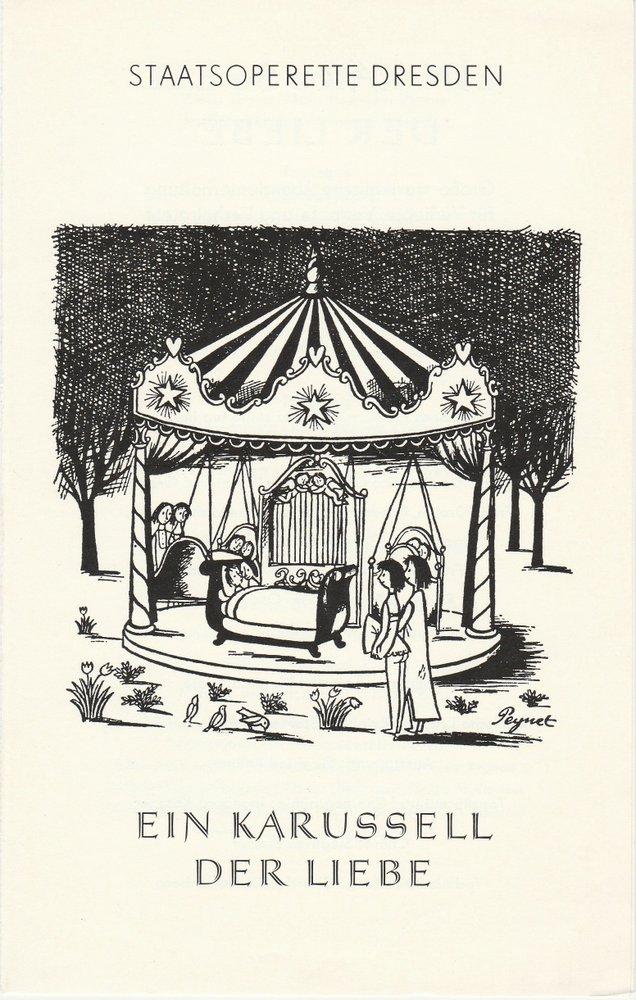 Programmheft Ein Karussel der Liebe Staasoperette Dresden 1982