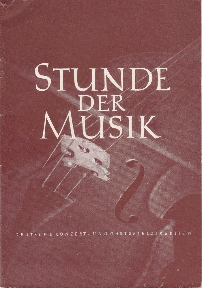Programmheft Stunde der Musik. Konzertjahr 1954 / 55
