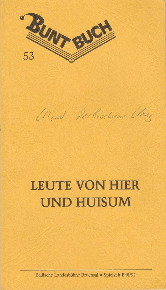 Programmheft Kleist DER ZERBROCHNE KRUG Landesbühne Bruchsal 1992
