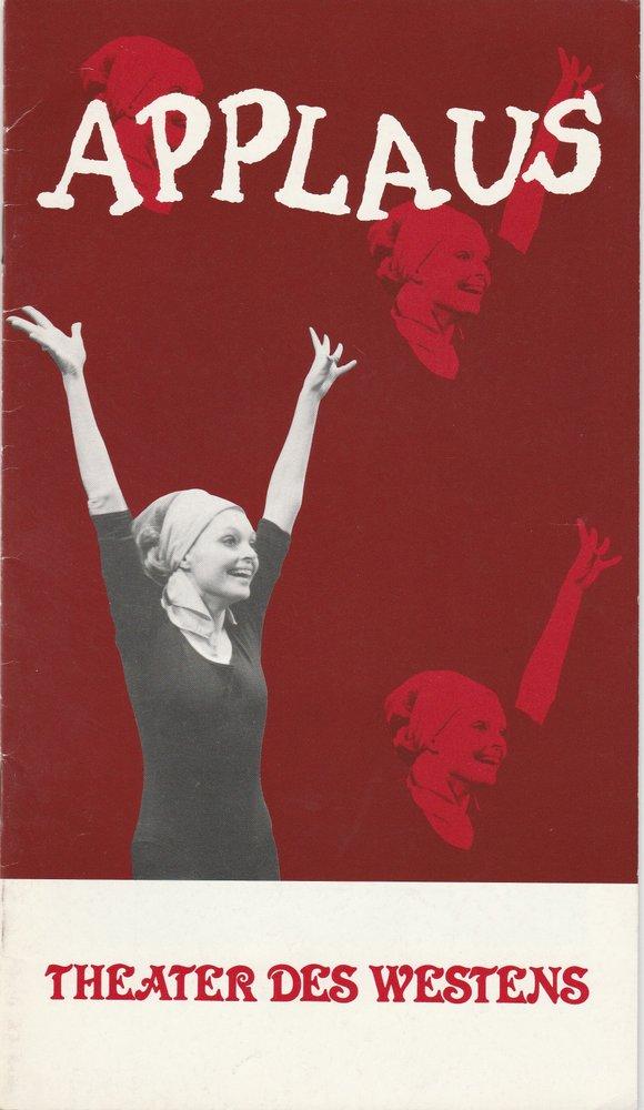Programmheft APPLAUS. Musical Theater des Westens Nadja Tiller 1980