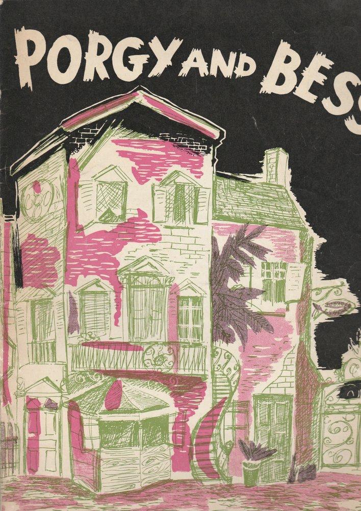 Programmheft Porgy and Bess Eine Produktion Blevins Davis und Robert Breen 1954