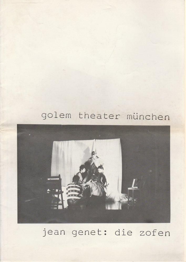 Programmheft Jean Genet: Die Zofen Golem Theater München 1983