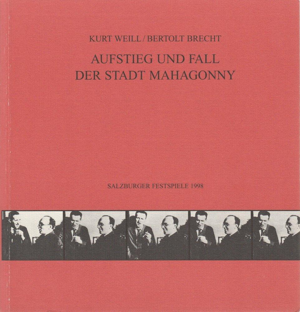 Programmheft Weill / Brecht Aufstieg und Fall der Stadt Mahagonny Salzburg 1998