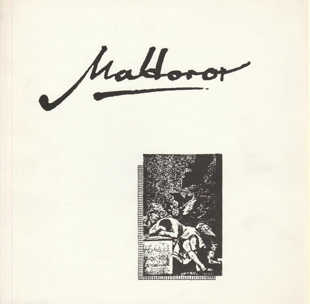 Programmheft Uraufführung Une promenade dangereuse von Comte de Lautreamont 1985
