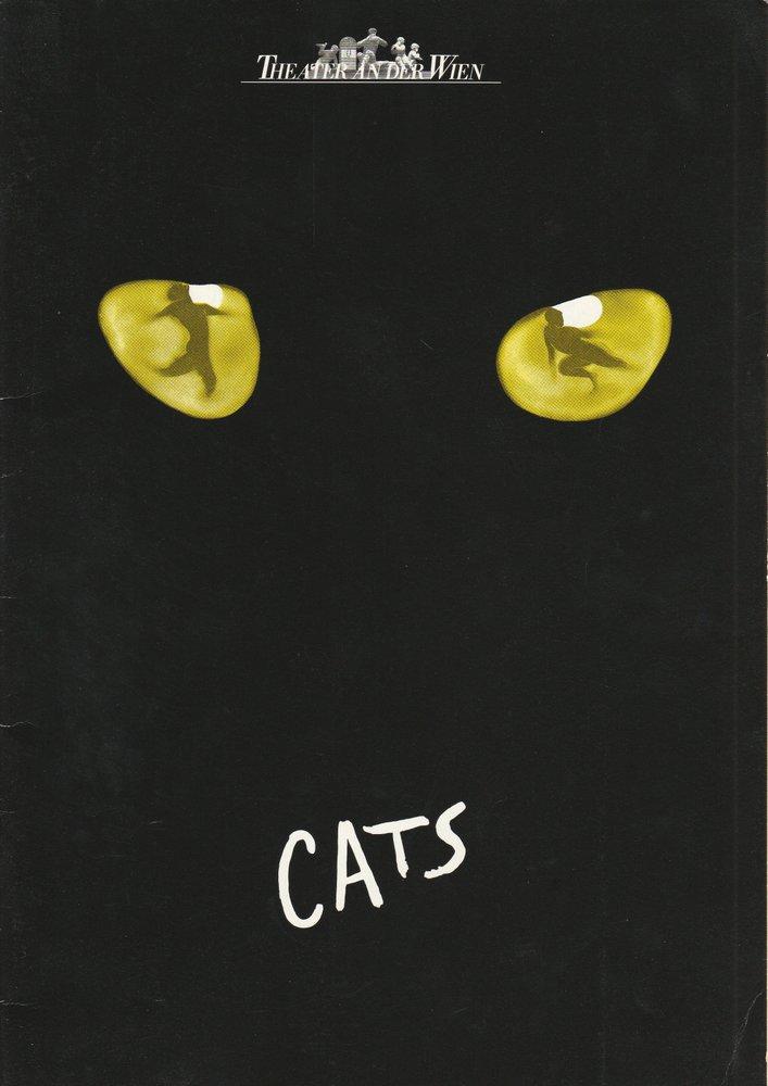 Programmheft CATS Musical von Andrew Lloyd Webber Theater an der Wien