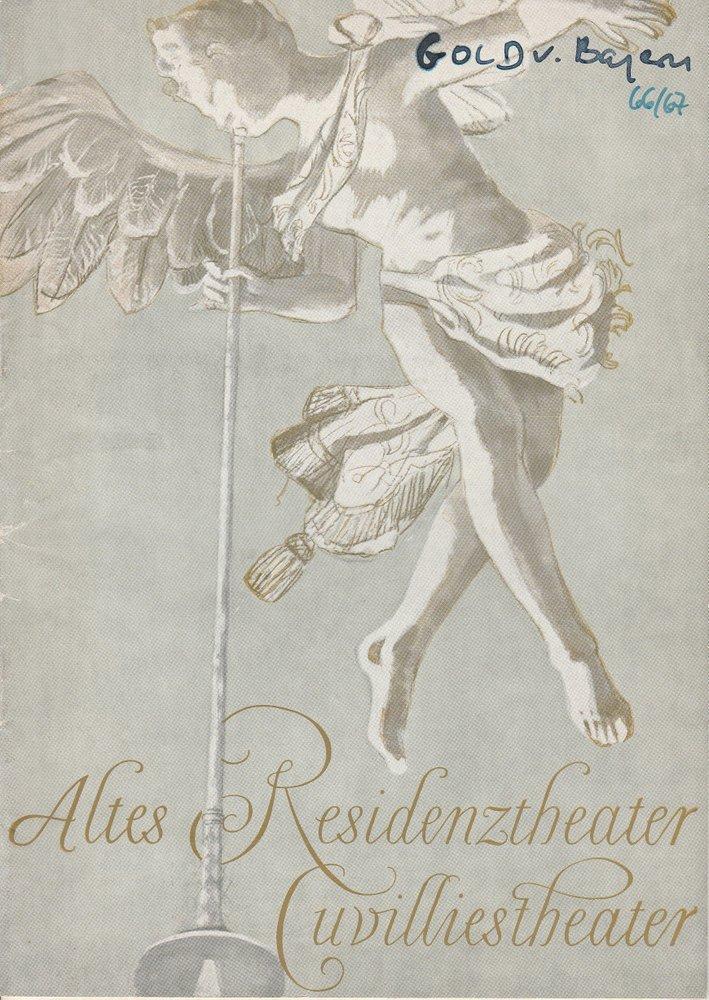 Programmheft Uraufführung DAS GOLD VON BAYERN Cuvillies-Theater 1966