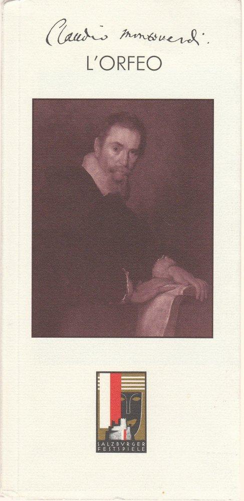 Programmheft Claudio Monteverdi L'ORFEO Salzburger Festspiele 1993