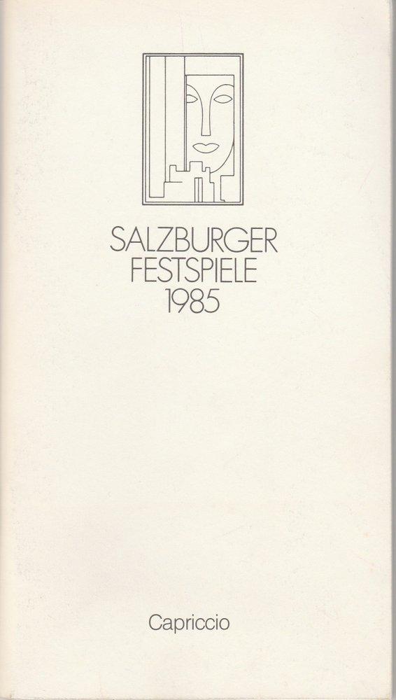 Programmheft CAPRICCIO Richard Strauss Salzburger Festspiele 1985