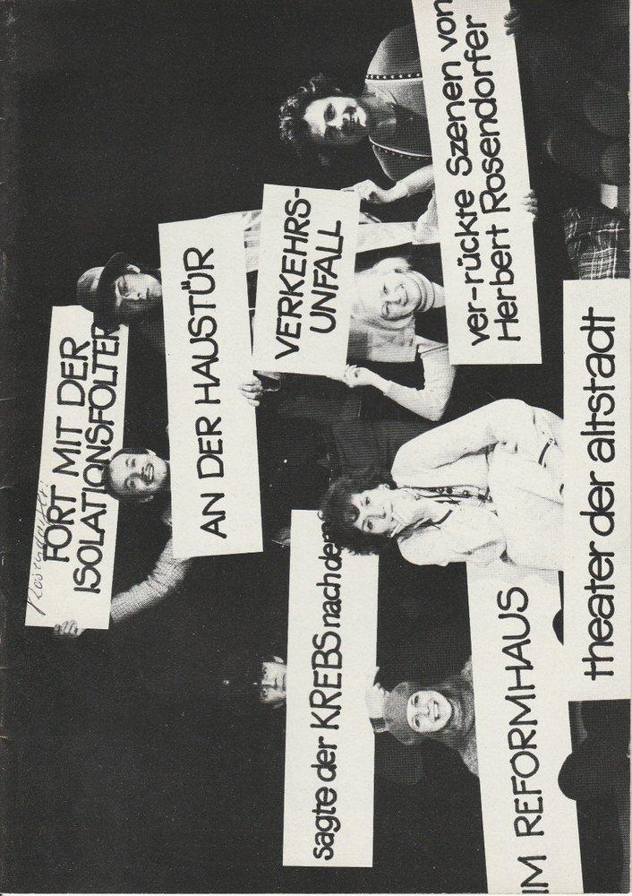 Programmheft Fort mit der Isolationsfolter an der Haustür Rosendorfer 1975
