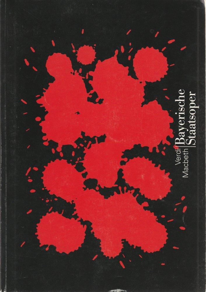 Programmheft Neuinszenierung MACBETH Bayerische Staatsoper 1997