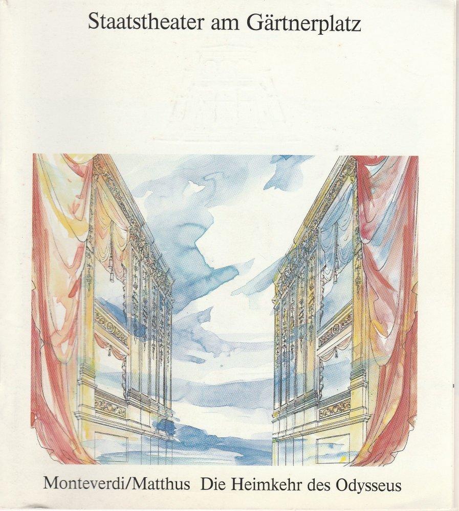 Programmheft Die Heimkehr des Odysseus Staatstheater am Gärtnerplatz 1991