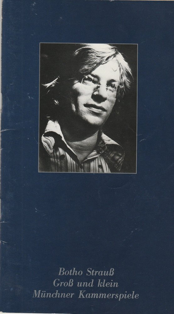 Programmheft Botho Strauß: Groß und klein Münchner Kammerspiele 1979