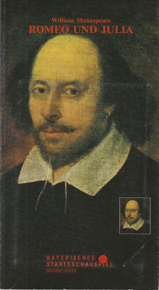 Programmheft William Shakespeare Romeo und Julia Residenztheater 1993