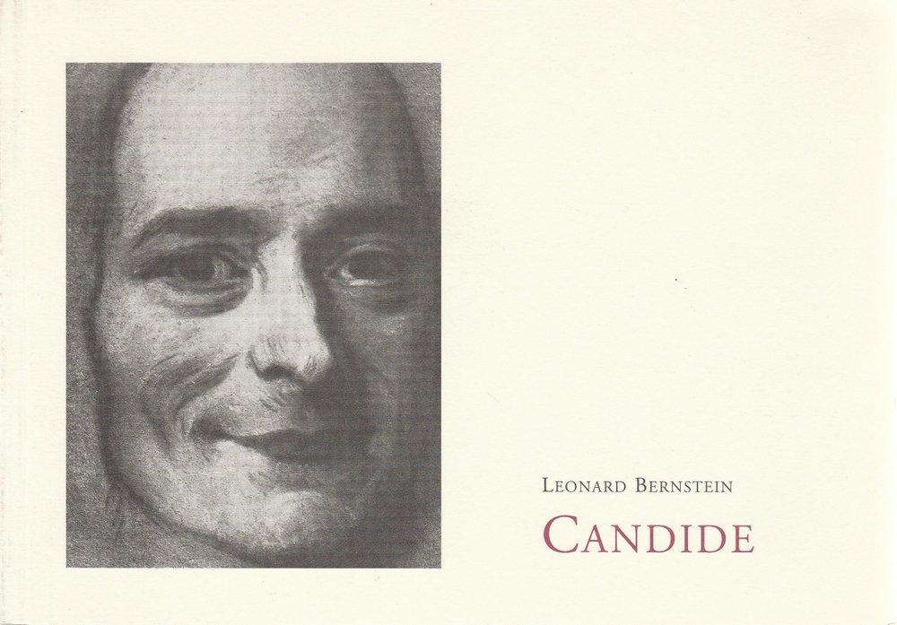 Programmheft CANDIDE von Leonard Bernstein Staatstheater am Gärtnerplatz 1999