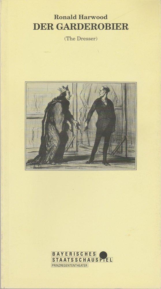 Programmheft Der Garderobier von Ronald Harwood Prinzregententheater ca. 1990