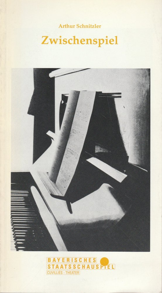 Programmheft ZWISCHENSPIEL von Arthur Schnitzler Cuvillies-Theater 1990