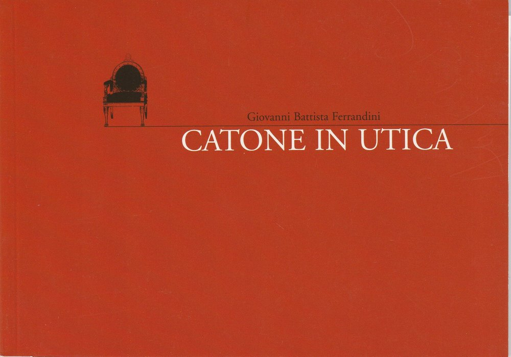 Programmheft Ferrandini: CATONE IN UTICA Staatstheater am Gärtnerplatz 2003
