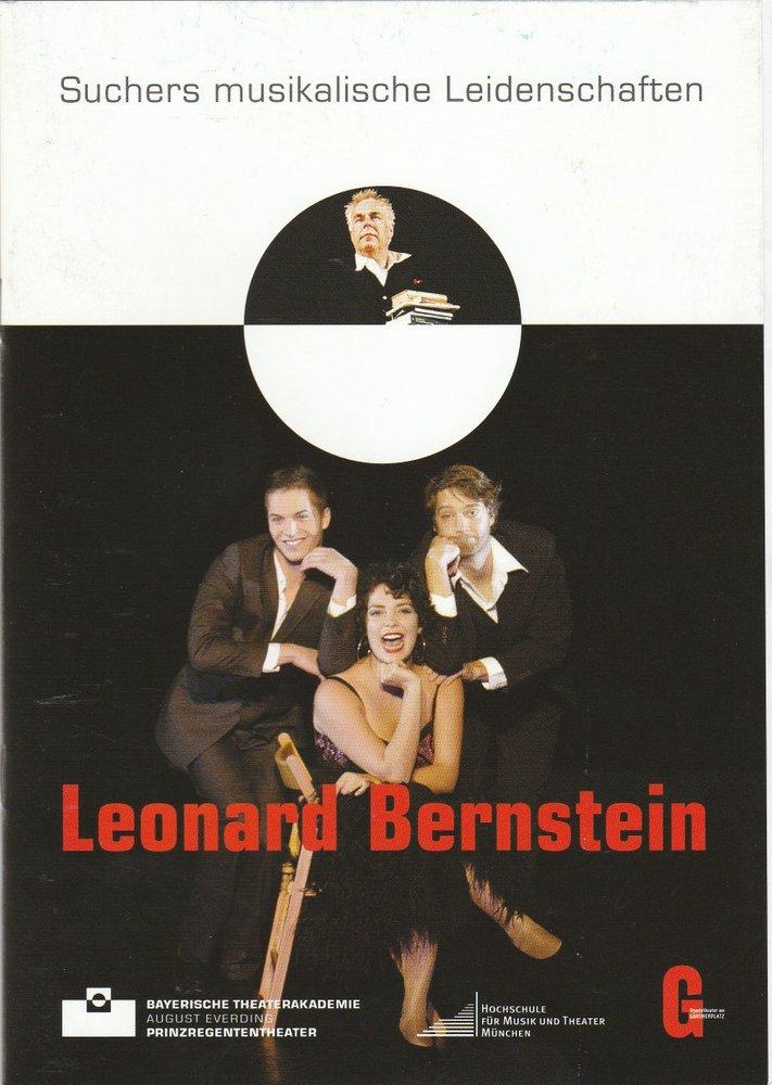 Programmheft Suchers musikalische Leidenschaften Leonard Bernstein 2010