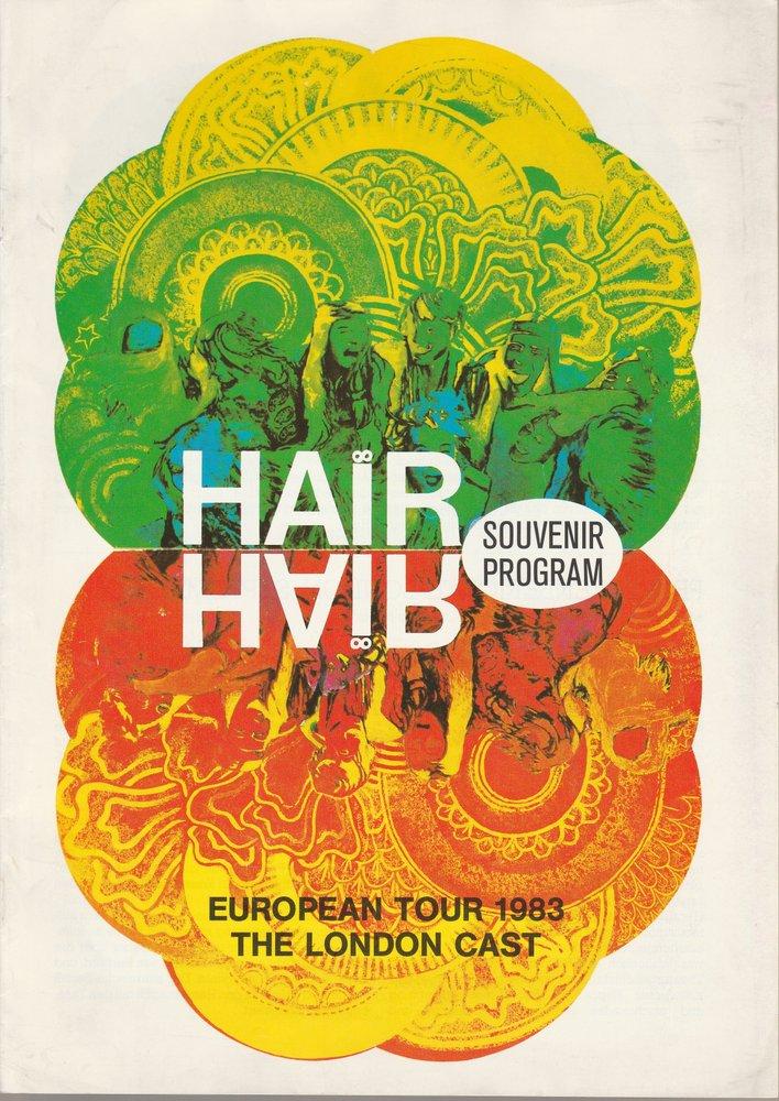 Programmheft HAIR Musical. Souvenir Program European Tour 1983 The London Cast