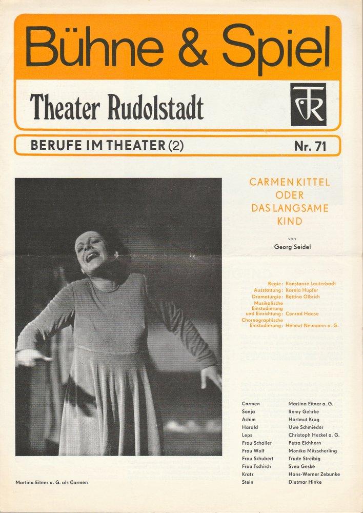 Bühne & Spiel Theater Rudolstadt Berufe im Theater ( 2 ) Nr. 71
