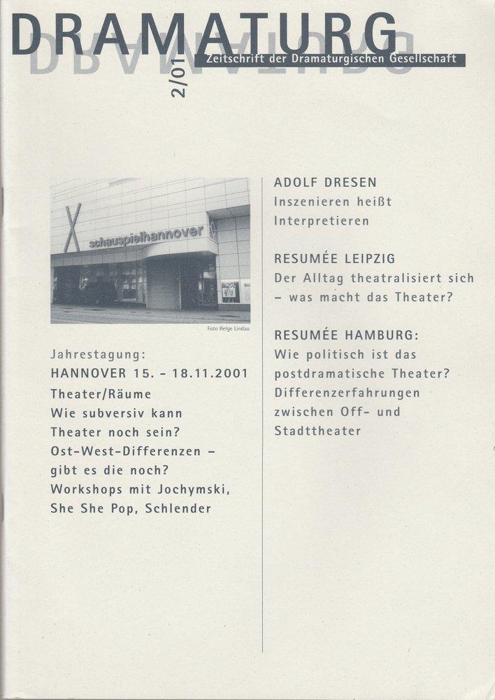 DRAMATURG Zeitschrift der Dramaturgischen Gesellschaft 2 / 01