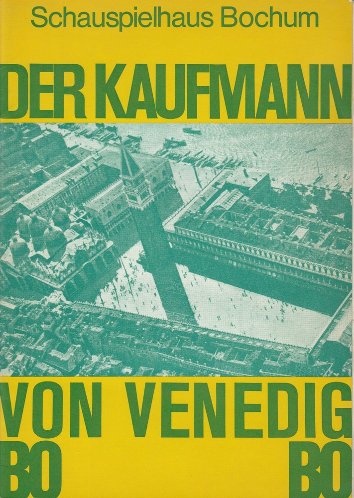 Programmheft Shakespeare: Der Kaufmann von Venedig Schauspielhaus Bochum 1973