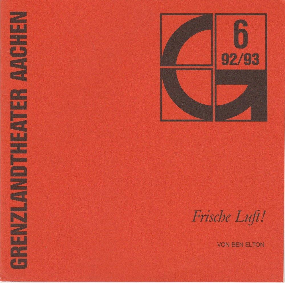 Programmheft Ben Elton: Frische Luft Grenzlandtheater Aachen 1993