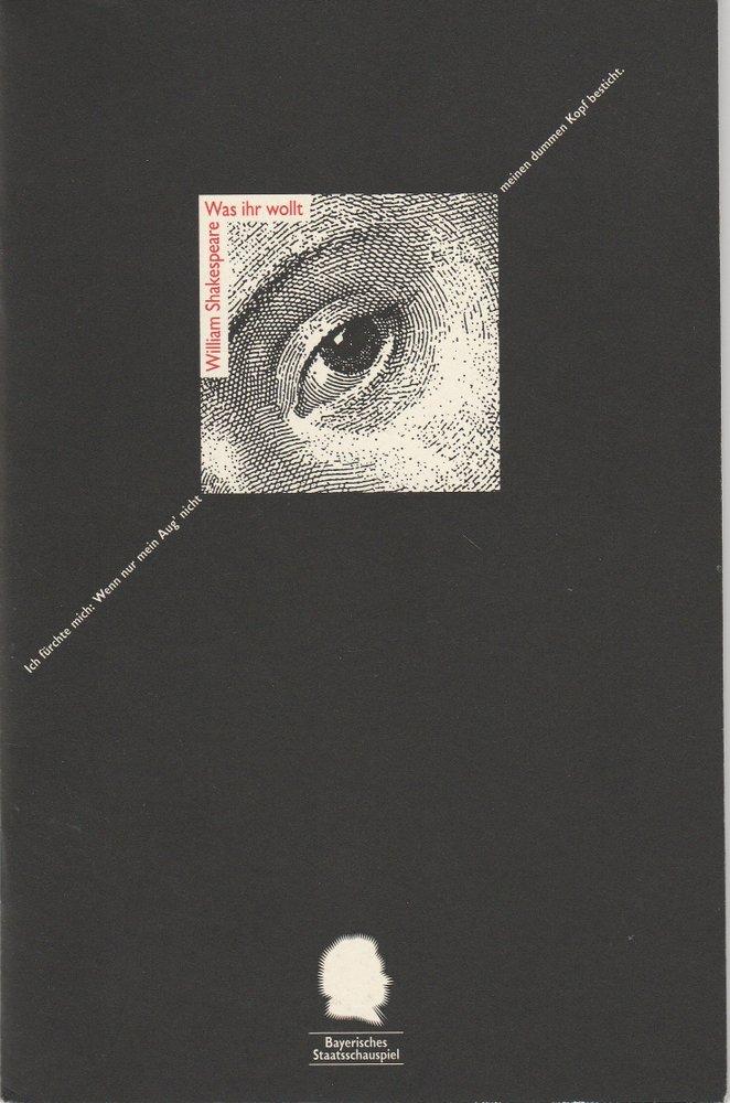 Programmheft William Shakespeare Was ihr wollt Residenztheater 1995