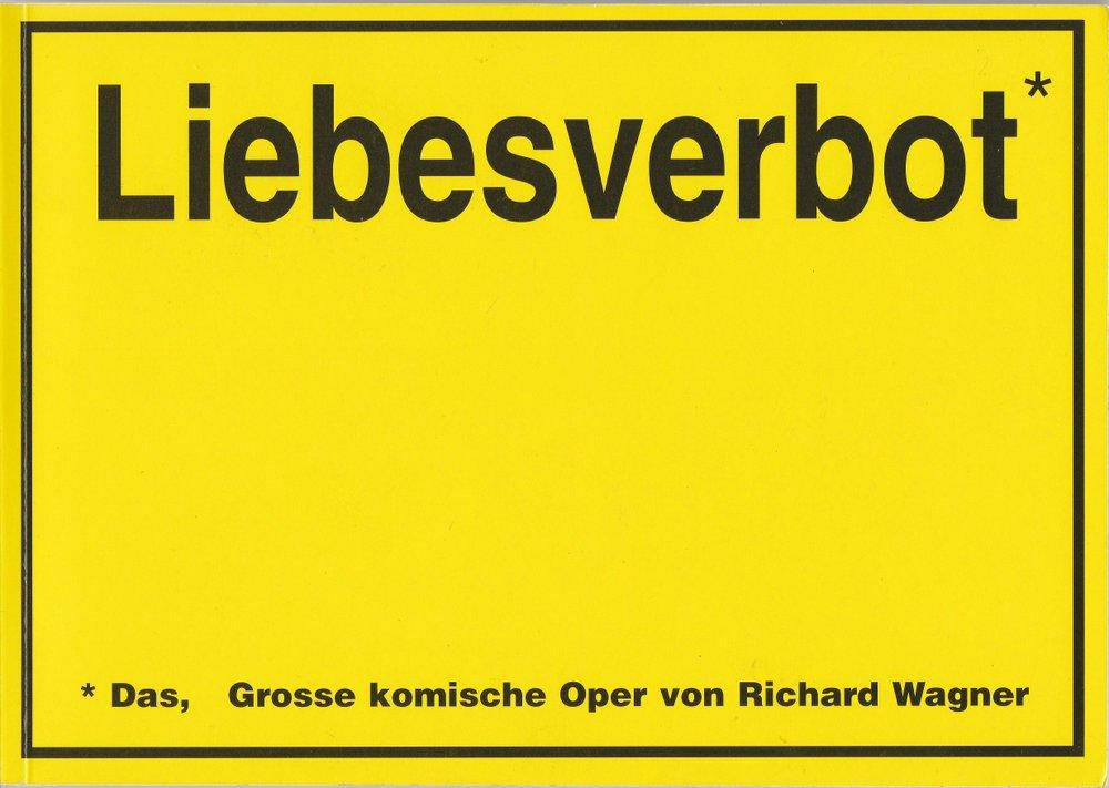 Programmheft Richard Wagner: Das Liebesverbot Staatstheater am Gärtnerplatz 2002