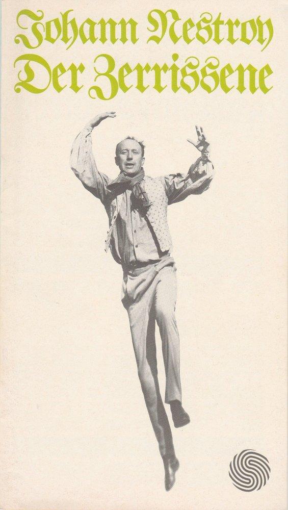 Programmheft Johann Nestroy Der Zerrissene Deutsches Schauspielhaus Hamburg 1974