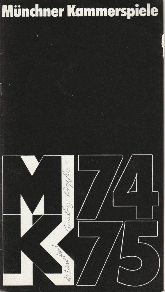 Programmheft DREYFUS … von Jean-Claude Grumberg Münchner Kammerspiele 1974