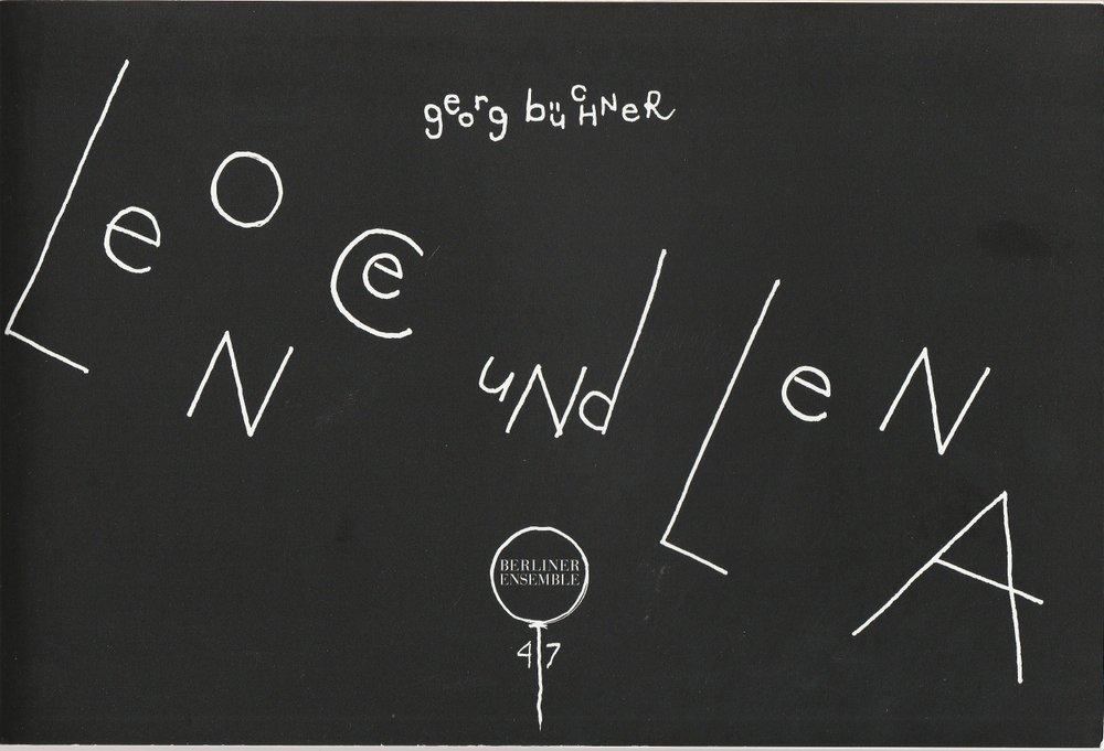 Programmheft Leonce und Lena von Georg Büchner Berliner Ensemble 2003
