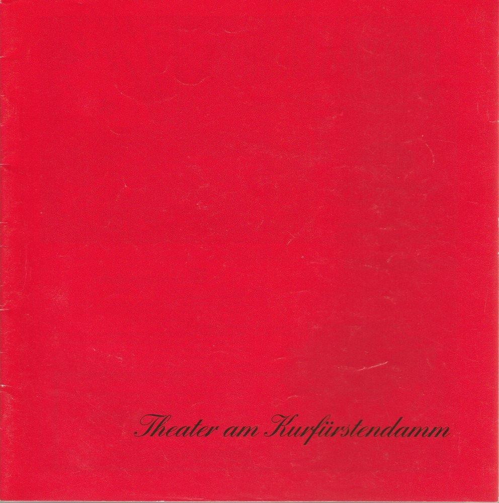 Programmheft VORSICHT HOCHSPANNUNG Theater am Kurfürstendamm 1991