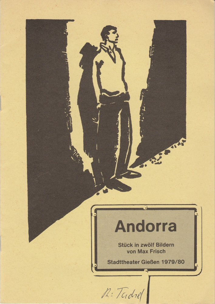 Programmheft ANDORRA. Stück von Max Frisch Stadttheater Gießen 1980